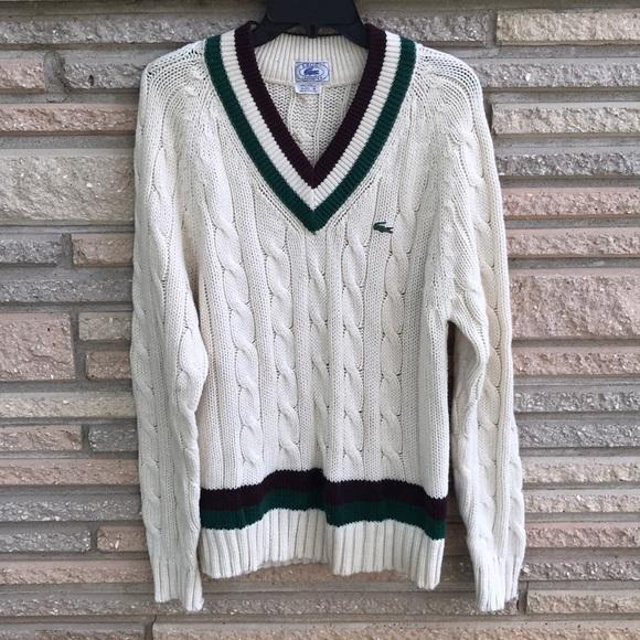fc72fba0fa9 Izod Lacoste vintage knit sweater men's sz M